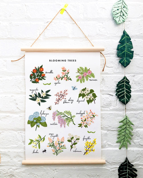 Blooming Trees Canvas Banner