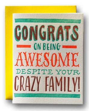 Congrats on Being Awesome Card