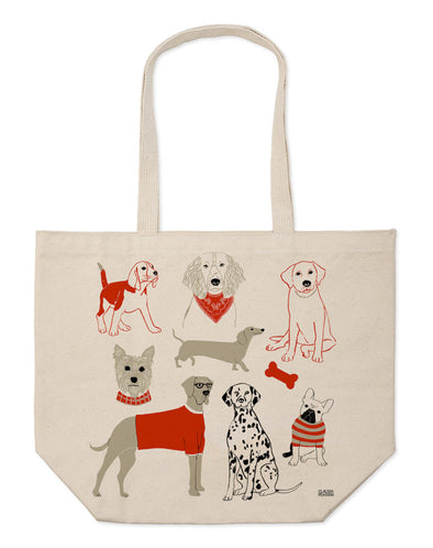 Canvas Market Tote : Dog