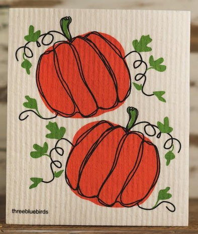 Pumpkins Swedish Dishcloth