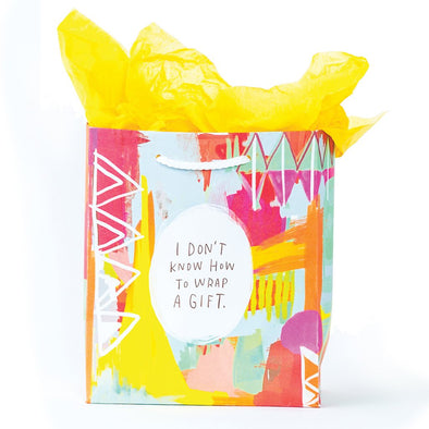 I Don't Know How to Gift Wrap Gift Bag - WATERBURY