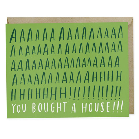 Ahh! House Congratulations Greeting Card
