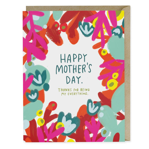 Mother's Day Red Floral Greeting Card