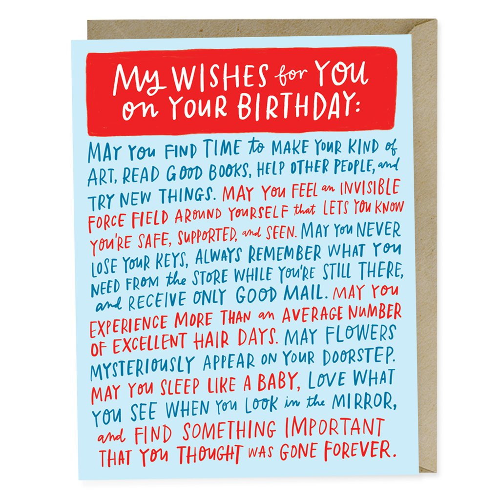 Wishes for Your Birthday Card - Waterbury