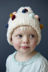 Colorful Fall Pom Pom Hat