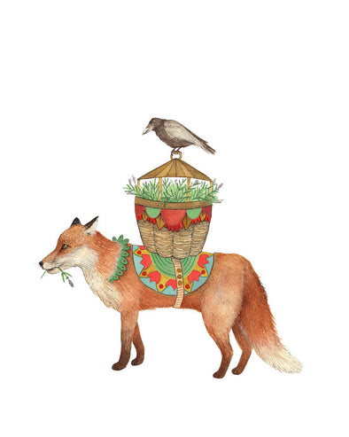 8x10 Art Print:  Flower Messenger: The Fox