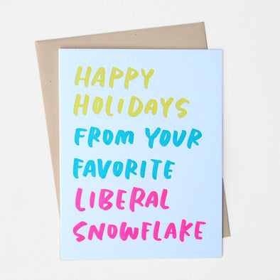Liberal Snowflake Greeting Card