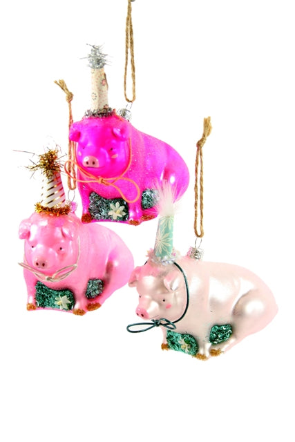 Party Pig Ornament - Assorted