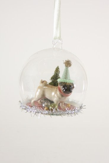 Party Dog Globe Ornament