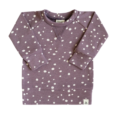 Grape Dot Crew Neck Sweatshirt