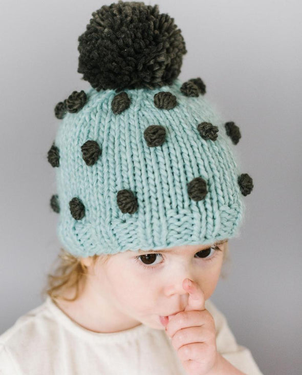 Popcorn Hat - Blue and Green