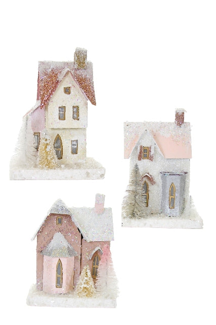Mini Wintertide Glitter House- Assorted