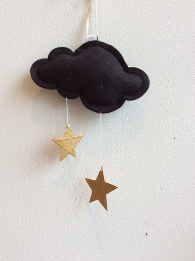 Black Mini Star Cloud Mobile