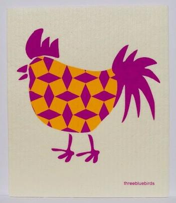 Rooster Swedish Dishcloth