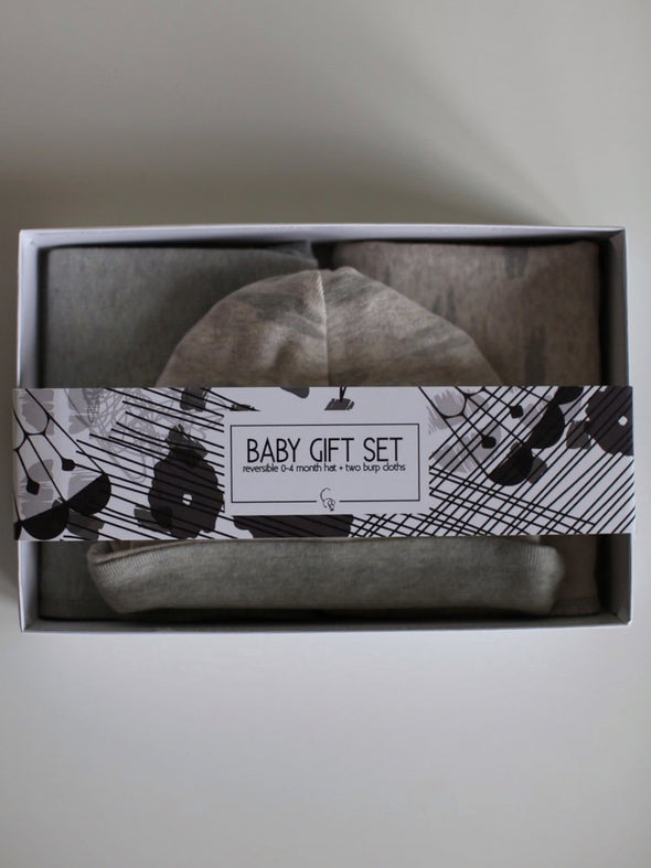 Baby Gift Set - Dashes Print