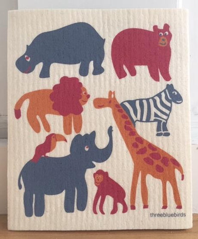 Zoo Swedish Dishcloth