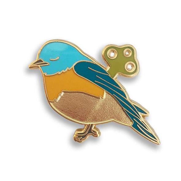 Wind-Up Bird Pin