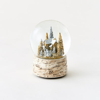 Cottage in Forest Water Globe