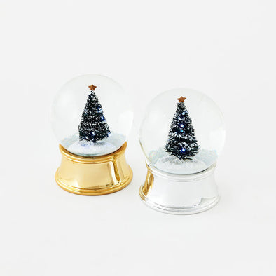 Lighted Tree Water Snow Globe
