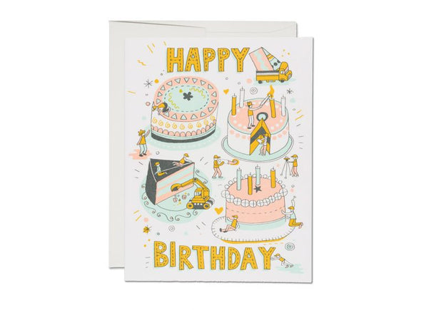 Builders Happy Birthday Greeting Card