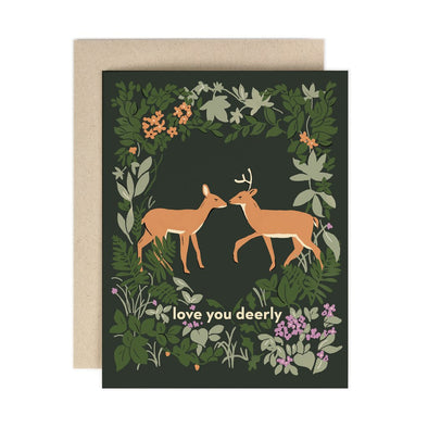 Love You Deerly Greeting Card
