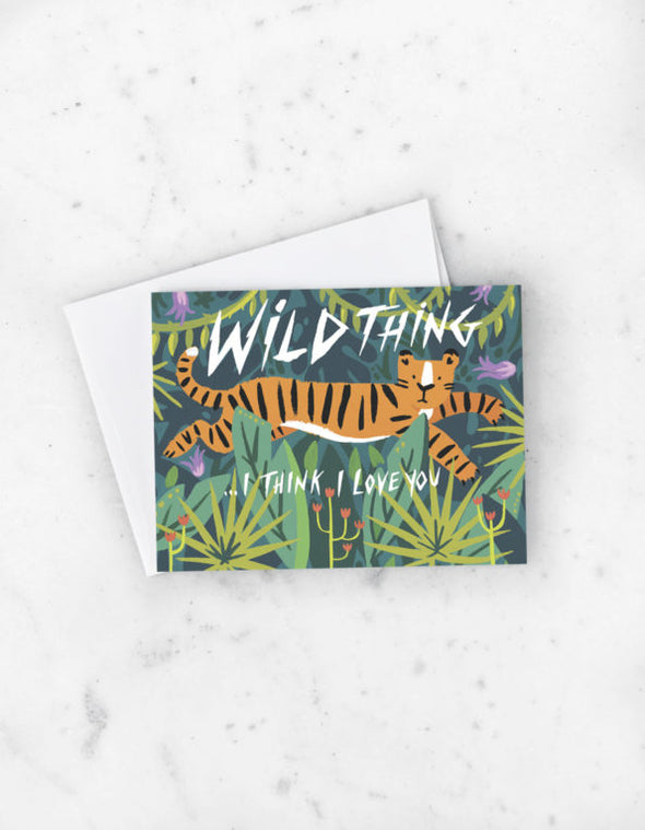 Wild Thing Love Greeting Card