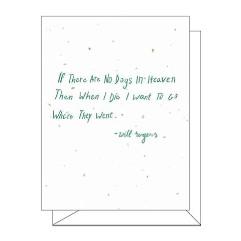 Dogs In Heaven Plantable Greeting Card
