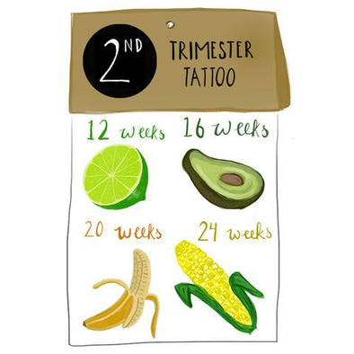 Temporary Tattoo Second Trimester