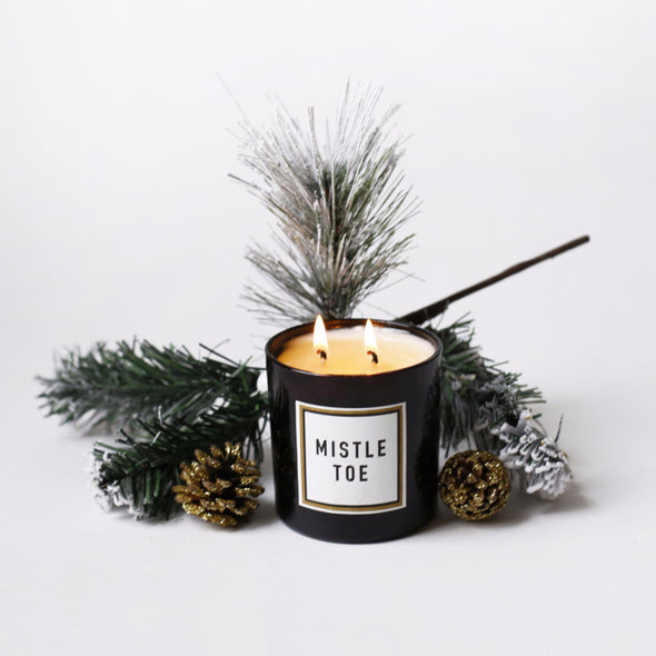 Mistletoe Double Wick Holiday Candle