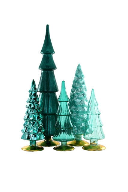 Hue Glass Tree Assorted Teal Tones