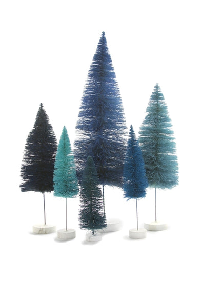 Blue Sisal Bottle Brush Tree