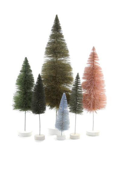 Grey/Pink Sisal Bottle Brush Tree