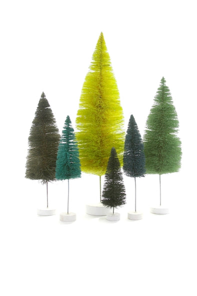 Green Sisal Bottle Brush Tree