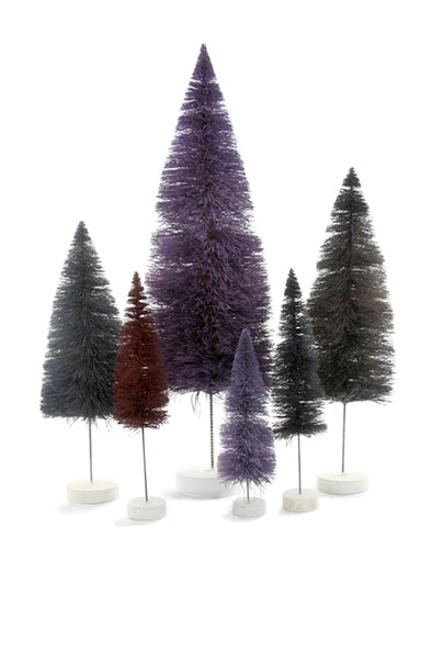 Purple Hues Sisal Bottle Brush Trees
