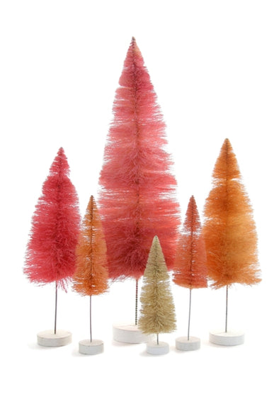Shades of Pink Sisal Bottle Brush Trees