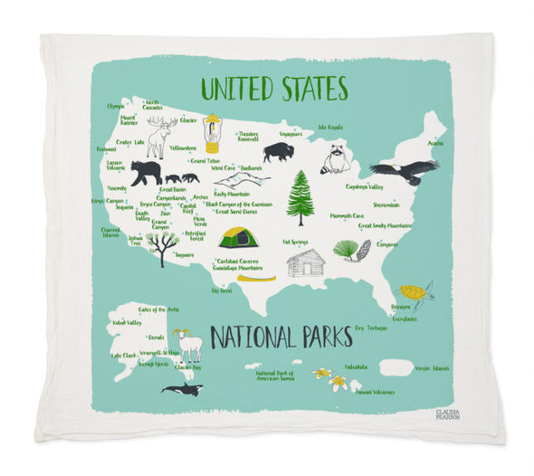 National Park Tea Towel