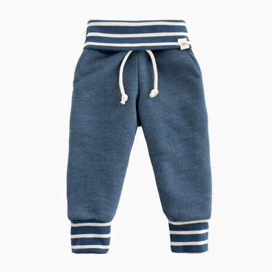 Navy and Navy Stripe Sweatpants