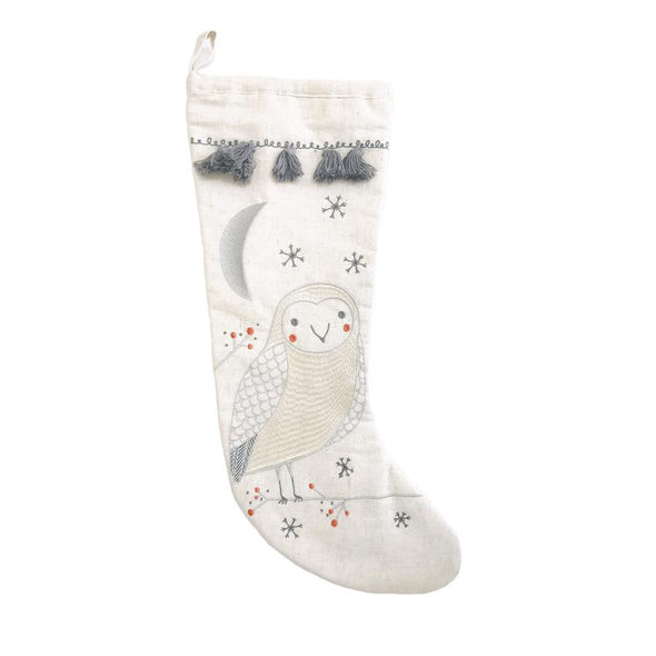 Owl Merriment Stocking
