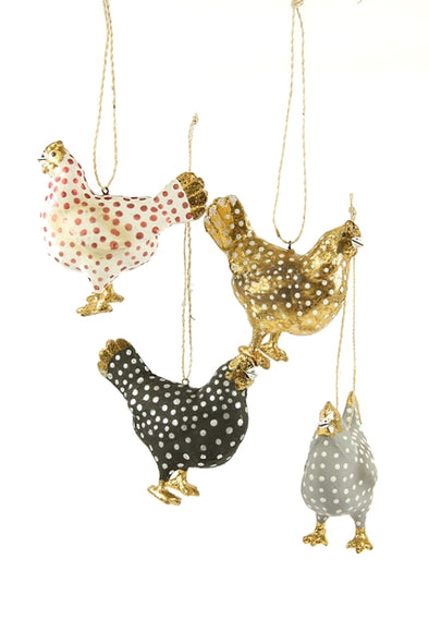 Merriment Hen Ornament
