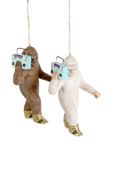 Hipster Sasquatch Ornament