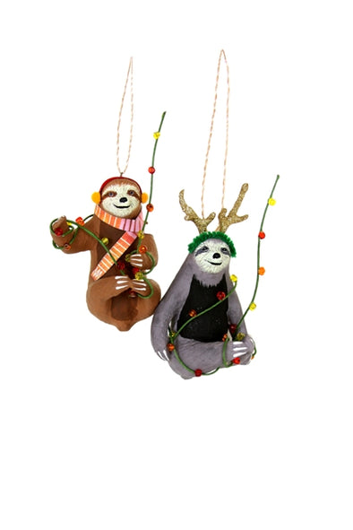 Merry Sloth Ornaments