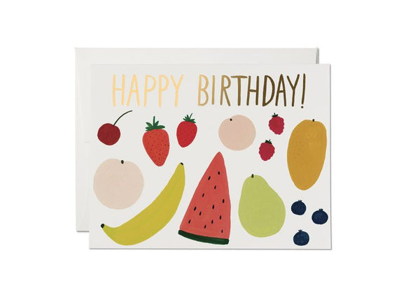 Fruit Happy Birthday- Greeting Card