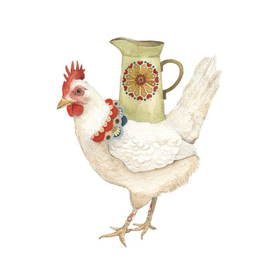 Woodland Kitchen: Jen the Hen's Pitcher - Art Print