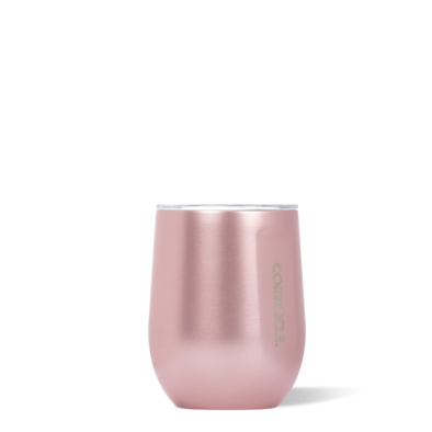 12oz Stemless Rose Metallic Tumbler