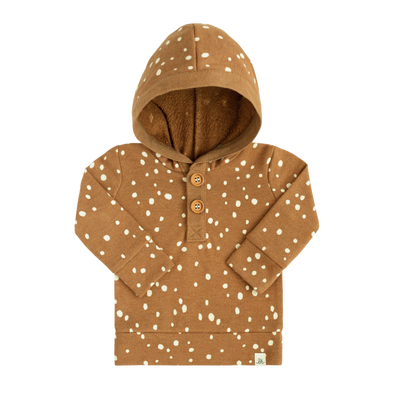 Rust Dot and Rust Button Hoodie