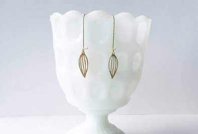 Seed Earrings - Brass