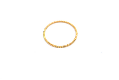 Rope Ring Gold Color