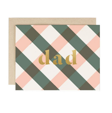 Plaid Dad Card