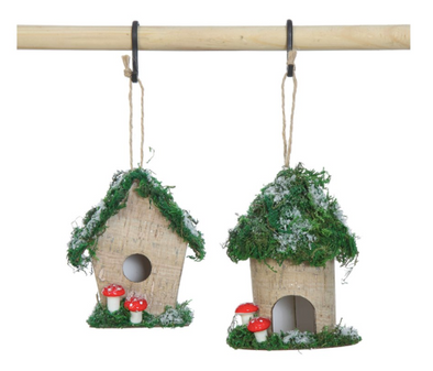 Paper Bird House Ornament