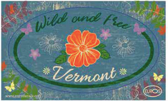 Vermont Wild and Free Postcard And Sticker